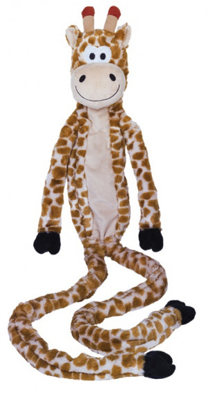 NOBBY ''Plush long giraffe'' - rotaļlieta suņiem žirafe