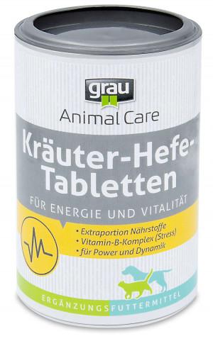 GRAU Vital Tablets (Herbs - Yeast) - papildbarība suņiem un kaķiem 500 tab.