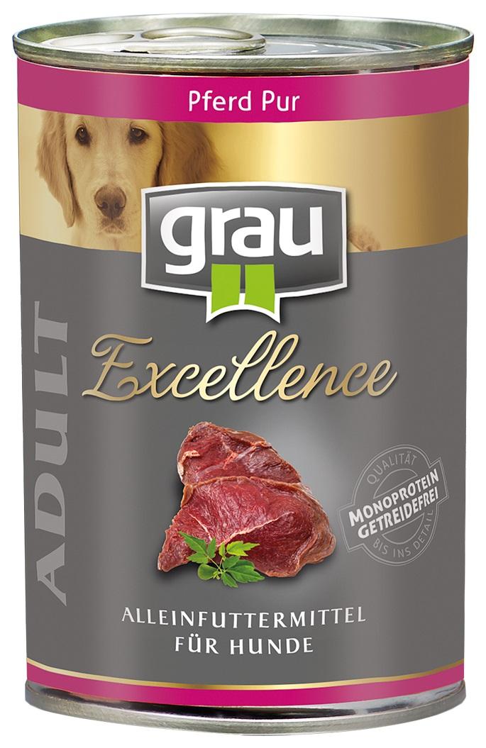 GRAU Excellence ADULT Horse - konservi suņiem 6 x 400g