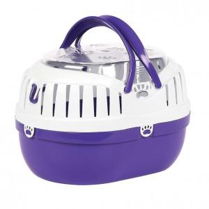 Happy Pet Small Animal Carrier Purple - transportkaste grauzējiem M