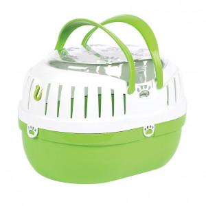 Happy Pet Small Animal Carrier Green - transportkaste grauzējiem M