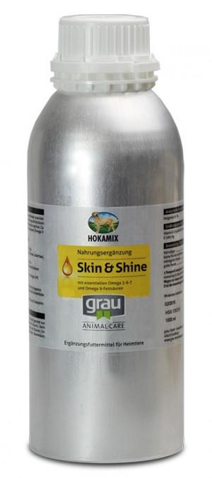 HOKAMIX Skin & Shine - papildbarība suņiem un kaķiem 1L