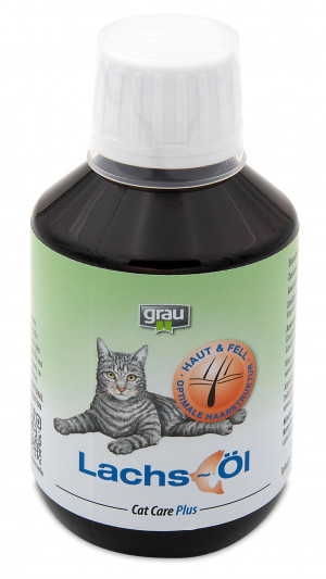 GRAU Cat Care Plus Salmon Oil For Cats - papildbarība kaķiem 200ml