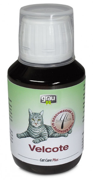 GRAU Cat Care Plus Velcote For Cats - papildbarība kaķiem 100ml