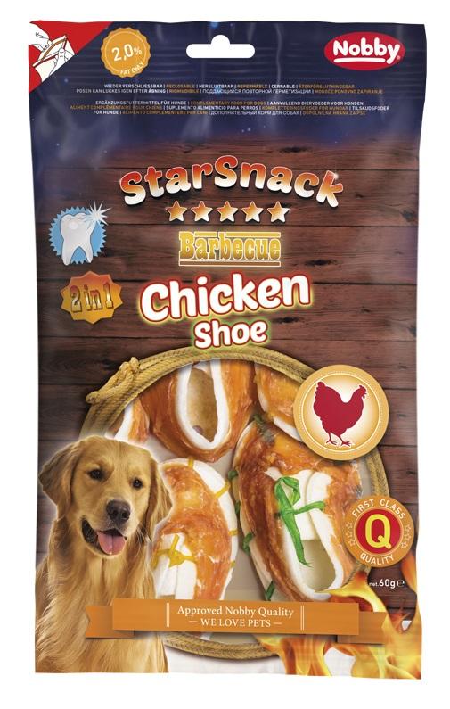 NOBBY StarSnack Barbecue Chicken Shoe - gardumi suņiem 60g
