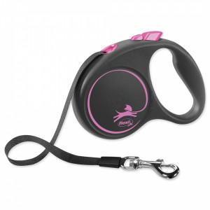 Flexi Design M 5m melna / rozā (lenta)