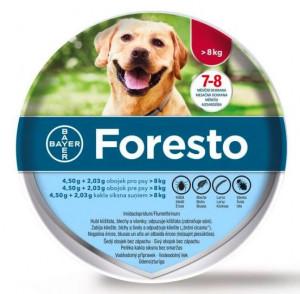 Foresto 4,50 g + 2,03 g pret ērcēm/ blusām kakla siksna lieliem suņiem (no 8 kg) 70cm x 5 gab.