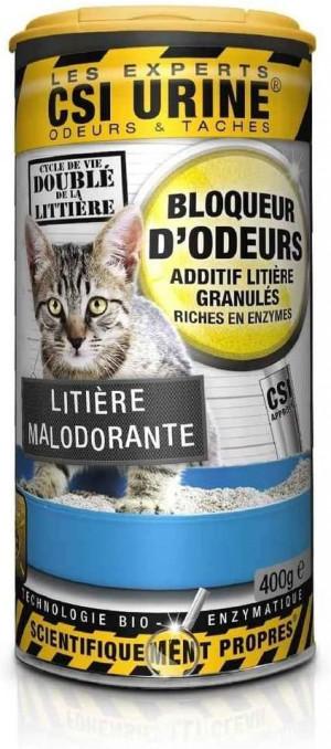CSI URINE Odour Blocker Litter Additive – enzīmu granulas kaķu pakaišiem 400g