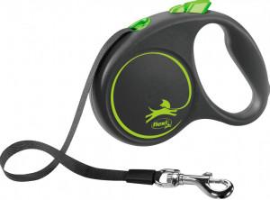 Flexi Black Design S 5m (lenta) zaļa