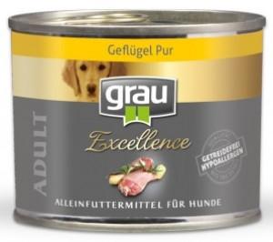 GRAU Excellence ADULT Poultry - konservi suņiem 6 x 200g