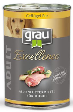 GRAU Excellence ADULT Poultry - konservi suņiem 6 x 400g