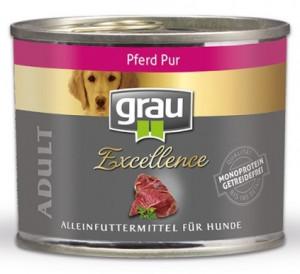 GRAU Excellence ADULT Horse - konservi suņiem 6 x 200g