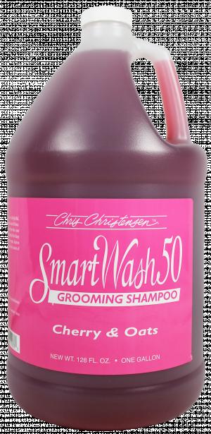 CHRIS CHRISTENSEN Smart Wash 50 Cherry & Oats Grooming Shampoo - šampūns suņiem un kaķiem 3,78L