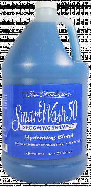 CHRIS CHRISTENSEN Smart Wash 50 Hydrating Blend Grooming Shampoo - šampūns suņiem un kaķiem 3,78L