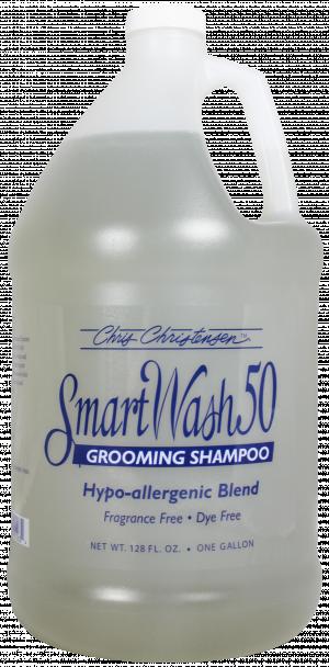 CHRIS CHRISTENSEN Smart Wash 50 Hypoallergenic Blend Grooming Shampoo - šampūns suņiem un kaķiem 3,78L