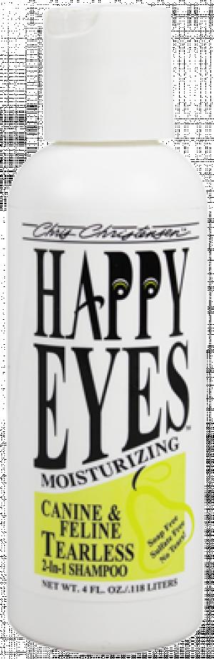 CHRIS CHRISTENSEN Happy Eyes Tearless 2 in 1 Shampoo - šampūns suņiem un kaķiem 118ml