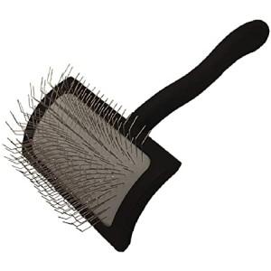 CHRIS CHRISTENSEN Big K Medium Black Slicker Brush - ķemme suņiem un kaķiem, melna