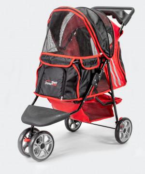 Innopet Buggy All Terrain Red / Black - ratiņi mājdzīvnieku pārvadāšanai