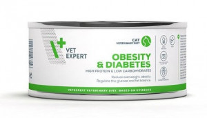 4T Veterinary Diet Cat Obesity & DIABETES  kārbā 4 x 100g + DĀVANĀ 100g