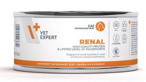 4T Veterinary Diet Cat Renal kārbā 4 x 100g + DĀVANĀ 100g