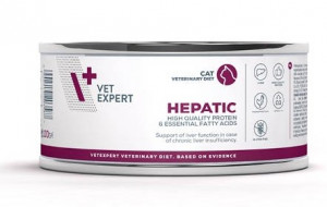 4T Veterinary Diet Cat Hepatic  kārbā 4 x 100g + DĀVANĀ 100g