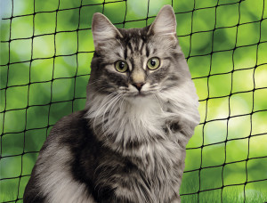 Nobby Cat Safety Net M - drošības tīkls balkonam, melns