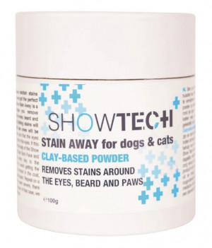 Show Tech+ Stain Away 100g - līdzeklis traipu notīrīšanai ap acīm, ķepām un sejas suņiem un kaķiem