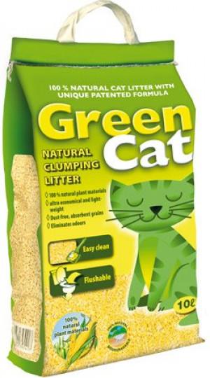 Green Cat Natural pakaiši kaķu tualetēm 24 l