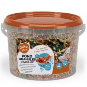 Duvo+ Pond Granules Colour Mix - barība dīķu zivīm 3L