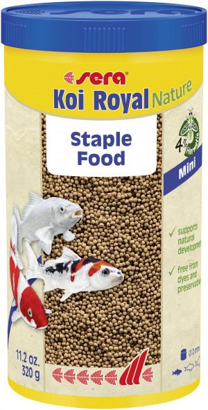 SERA Koi Royal Nature MINI - barība Koi zivīm 1L