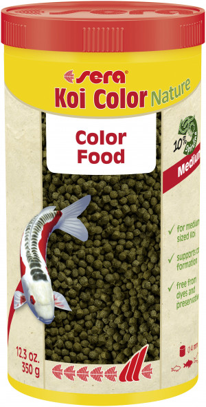 SERA Koi Color Nature MEDIUM - barība Koi zivīm 1L