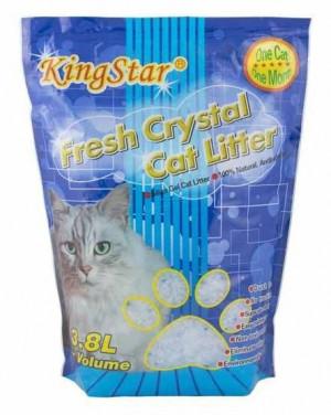 KINGSTAR Natural - silikona smiltis kaķu tualetei 3,8 L