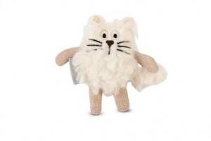 Beeztees rotaļlieta kaķiem Feline - kaķis, balts