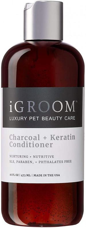 iGroom Charcoal + Keratin Shampoo - šampūns suņiem un kaķiem 473ml