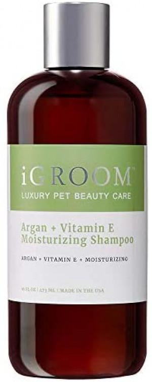 iGroom Argan + Vitamin E Moisturizing Shampoo - šampūns suņiem un kaķiem 473ml