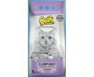 QUIK-BENTONITE CAT LITTER LAVANDER - cementējošas smiltis kaķu tualetei 5L