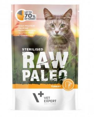 RAW PALEO STERILISED konservi kaķiem ar tītaru 100g AKCIJA 10+2