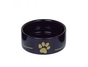 "NOBBY ""GOLDEN PAW"" - keramikas bļoda dzīvniekiem, melna"