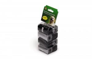 Beeztees Maisiņi suņu izkārnījumiem 160 gab. Pelēki/melni