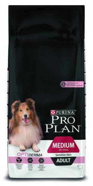 PRO PLAN Medium Sensitive Skin - sausā barība suņiem ar jutīgu ādu 14 kg