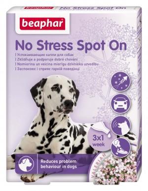 Beaphar No Stress spot on dog nomierinoši pilieni suņiem ar baldriānas ekstraktu 3 pipetes