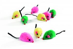 Beeztees plīša pele 9 gb. 5 cm