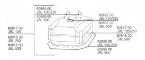 Blīvējuma aplis priekš JBL CP 120,250