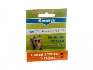 Canina Petvital Novermin Dog 15 2ml - bioloģiskais spot-on pret ektoparazītiem
