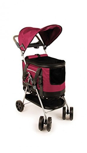 Transgroom Pet Stroller Raspberry