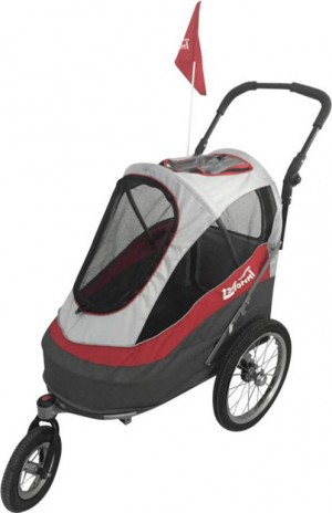 Innopet Sporty Dog Trailer Red/Grey ratiņi