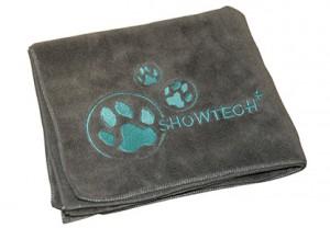 Show Tech Microfibre Towel - Mikrošķiedru dvielis ar izšuvumiem, pelēks