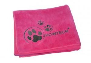 Show Tech Microfibre Towel - Mikrošķiedru dvielis ar izšuvumiem, rozā