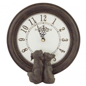 Happy House Clock Dog & Cat pulksteņi ar dekoru