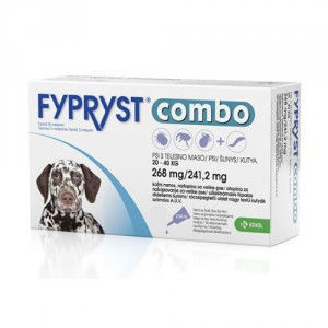Fypryst Combo Spot-on pretparazitāri pilieni (pipetes) suņiem 20-40 kg 268 mg N1